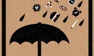 image parapluie pluie alcool malbouffe violence