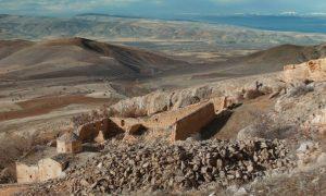 désert, ruines, ciel, institut français, cailloux, roches, chaleur