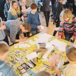 Enfants, rassemblement, jeux, amusement, activités, art, Institut Français, culture